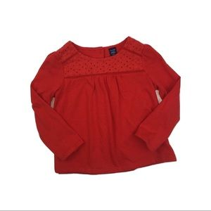 Gap Girls Red Long Sleeve Top, Size 3